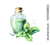 peppermint essential oil.... | Shutterstock . vector #764568802