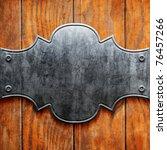 vintage metal signboard on old... | Shutterstock . vector #76457266