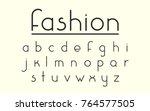 vector font. set of fine...   Shutterstock .eps vector #764577505