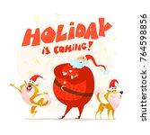 vector flat merry christmas...   Shutterstock .eps vector #764598856