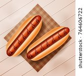 hot dogs vector illustration. a ... | Shutterstock .eps vector #764606722