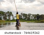 canoe trip with traditional... | Shutterstock . vector #764619262