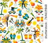 brazilian carnival. vector... | Shutterstock .eps vector #764619868