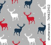 Seamless Vector Deers Pattern ...