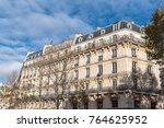 paris  beautiful haussmann... | Shutterstock . vector #764625952