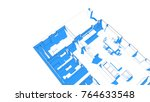 architecture 3d illustration | Shutterstock . vector #764633548