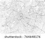 brussels city streets  city map ... | Shutterstock .eps vector #764648176