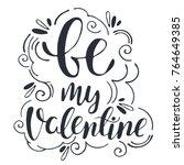 hand drawn vector calligraphy.... | Shutterstock .eps vector #764649385