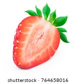 perfectly retouched sliced... | Shutterstock . vector #764658016