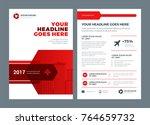 red brochure annual report... | Shutterstock .eps vector #764659732