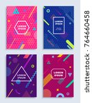 covers modern abstract design... | Shutterstock .eps vector #764660458