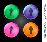 man swearing crystal ball... | Shutterstock .eps vector #764672596