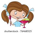 raster illustration of a girl... | Shutterstock . vector #76468525
