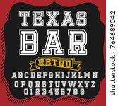 vector set of hand drawn fonts... | Shutterstock .eps vector #764689042