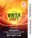 2018 new year winter party... | Shutterstock .eps vector #764700472