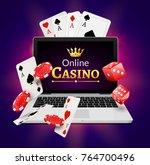 online casino banner concept... | Shutterstock .eps vector #764700496