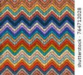 embroidered seamless pattern....   Shutterstock .eps vector #764712028