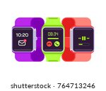 smart watch vector illustration | Shutterstock .eps vector #764713246