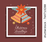 christmas greetings design  | Shutterstock .eps vector #764713288