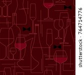 seamless background with wine... | Shutterstock .eps vector #764714776