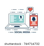 social media design | Shutterstock .eps vector #764716732