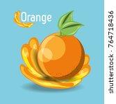 citric fruits design  | Shutterstock .eps vector #764718436