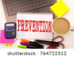 word writing prevention in the... | Shutterstock . vector #764722312