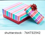 two boxes with christmas... | Shutterstock . vector #764732542