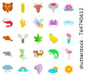 manifold icons set. cartoon set ... | Shutterstock .eps vector #764740612