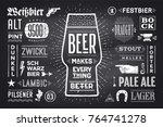 poster or banner with text beer ... | Shutterstock . vector #764741278
