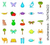 biology science icons set.... | Shutterstock .eps vector #764742622