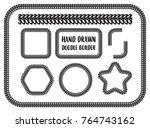 vector set of hand drawn doodle ... | Shutterstock .eps vector #764743162