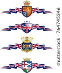 united kingdom patriotic banner ... | Shutterstock .eps vector #764745346