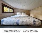 interior design of a loft... | Shutterstock . vector #764749036
