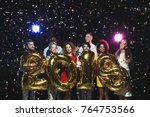 new 2018 year is coming  group... | Shutterstock . vector #764753566