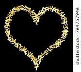 magic golden confetti.... | Shutterstock .eps vector #764757946