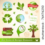 ecology icons and design... | Shutterstock .eps vector #76476250