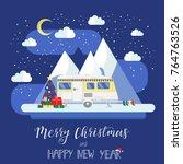 rv travel concept. mobile home...   Shutterstock .eps vector #764763526
