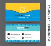 business card template vector... | Shutterstock .eps vector #764768428