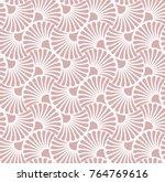 vector floral art nouveau... | Shutterstock .eps vector #764769616