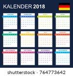 german calendar for 2018.... | Shutterstock .eps vector #764773642