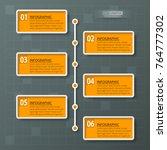 vector abstract 3d paper...   Shutterstock .eps vector #764777302