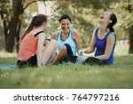 family concept mother and... | Shutterstock . vector #764797216