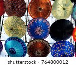 colorful parasol roof colours