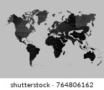 map world polygon.icon symbol... | Shutterstock .eps vector #764806162