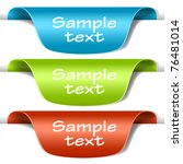 set of multicolored tag labels. ... | Shutterstock .eps vector #76481014