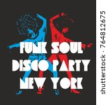 funk soul girls graphic design...   Shutterstock .eps vector #764812675