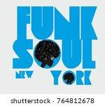 funk soul girls graphic design...   Shutterstock .eps vector #764812678