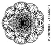 mandalas for coloring book.... | Shutterstock .eps vector #764820346