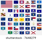 states flags of the united... | Shutterstock . vector #7648279
